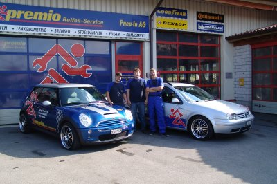 Team der Garage Pneu-In AG in Wimmis